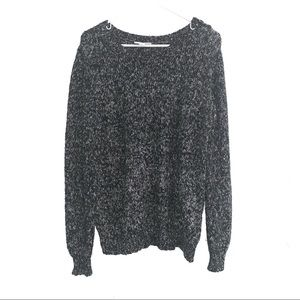 Salt and Pepper Oversized Sweater